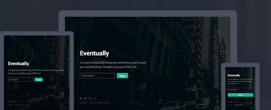 Eventually by HTML5 UP