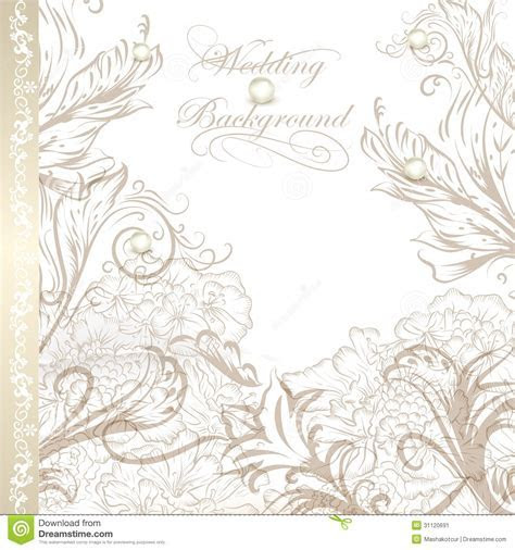 Elegant Wedding Background For Design Stock Vector
