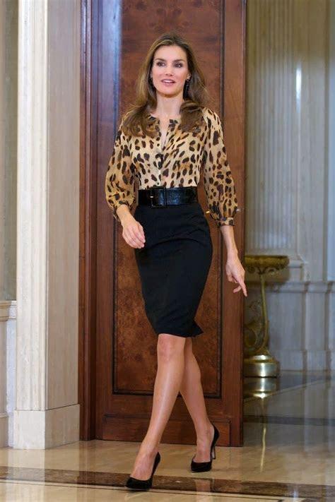 Princess Letizia at several audiences at Zarzuela Palace