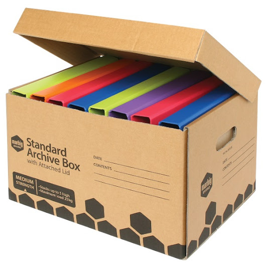 Marbig Enviro Archive Box with Attached Lid | Ausrecord