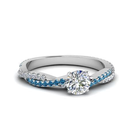 Round Cut Twisted Vine Diamond Engagement Ring For Women