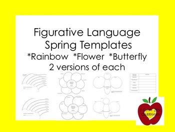 Figurative Language Spring Templates (Graphic Organizers)