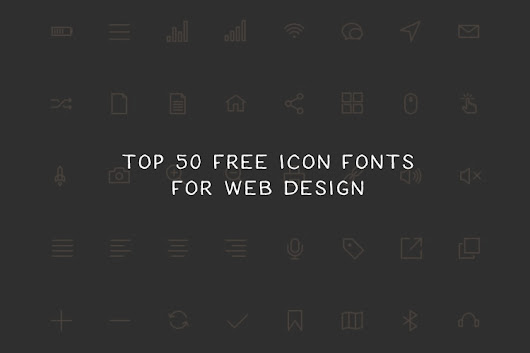 Top 50 Free Icon Fonts for Web Design