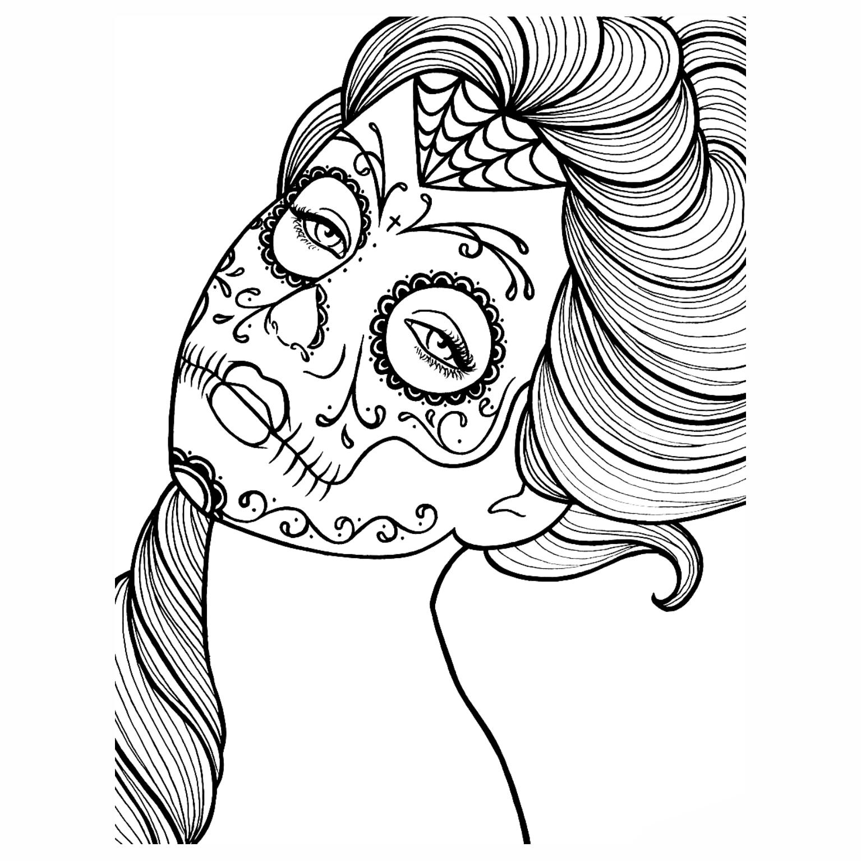 Desenhos Para Colorir De Caveiras Mexicanas Mmod