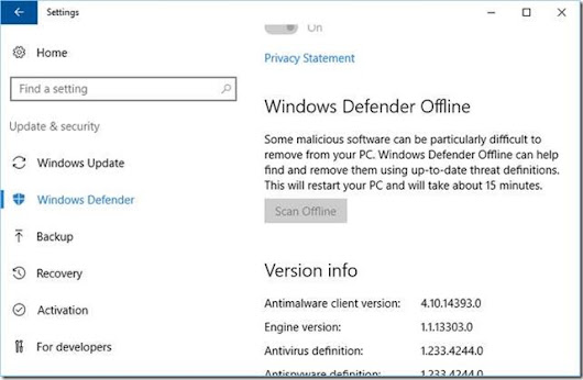 Windows 10: Defender Offline Scan boot loop – Part 2 | Born's Tech and Windows World