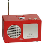 SMPL - Music Player with AM/FM Radio - Red