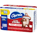 Charmin Ultra Strong Bath Tissue, Unscented, Mega Rolls, 2 Ply - 4 - 6 roll packs