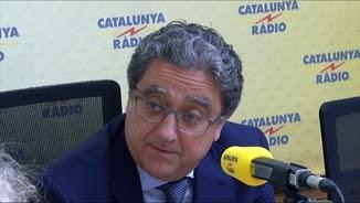 Enric Millo a l'estudi de Catalunya Ràdio