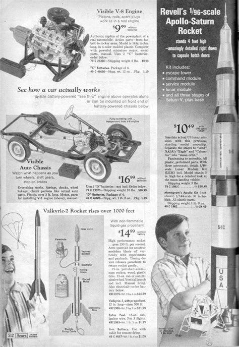 Revells' Saturn V and Visible V-8 Engine Models from the