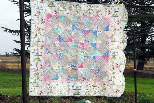 lovebirds baby quilt