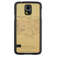 Jamaica Lithographed Map Carved® Maple Galaxy S5 Case
