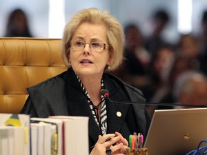 Ministra Rosa Weber em sessão que julga os Embargos de Declaração na Ação Penal (AP) 470. (Foto: Carlos Humberto/SCO/STF)