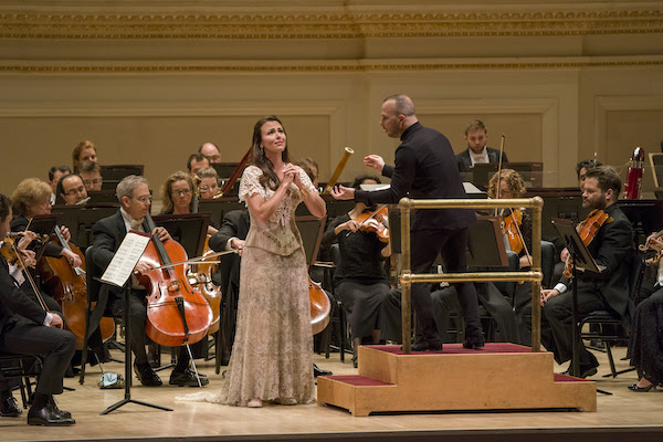 Isabel Leonard performed with Yannick Nézet-Séguin and the Met Orchestra Monday night at Carnegie Hall. Photo: Richard Termine