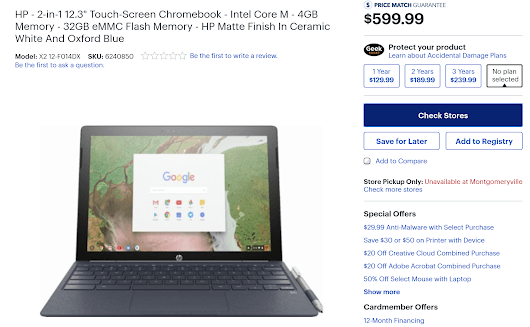 HP Chromebook X2 detachable Chrome tablet appears on Best Buy's site