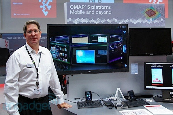 Hands-on demo with TI's OMAP5 platform at MWC (video)