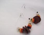 AUTUMN NIGHT hoop earrings