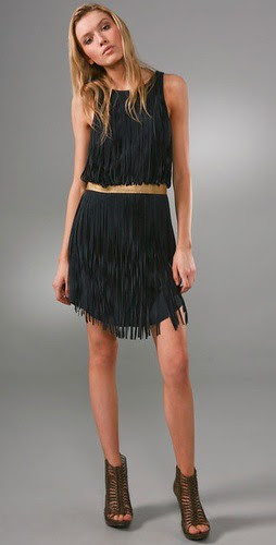 haute hippe suede dress