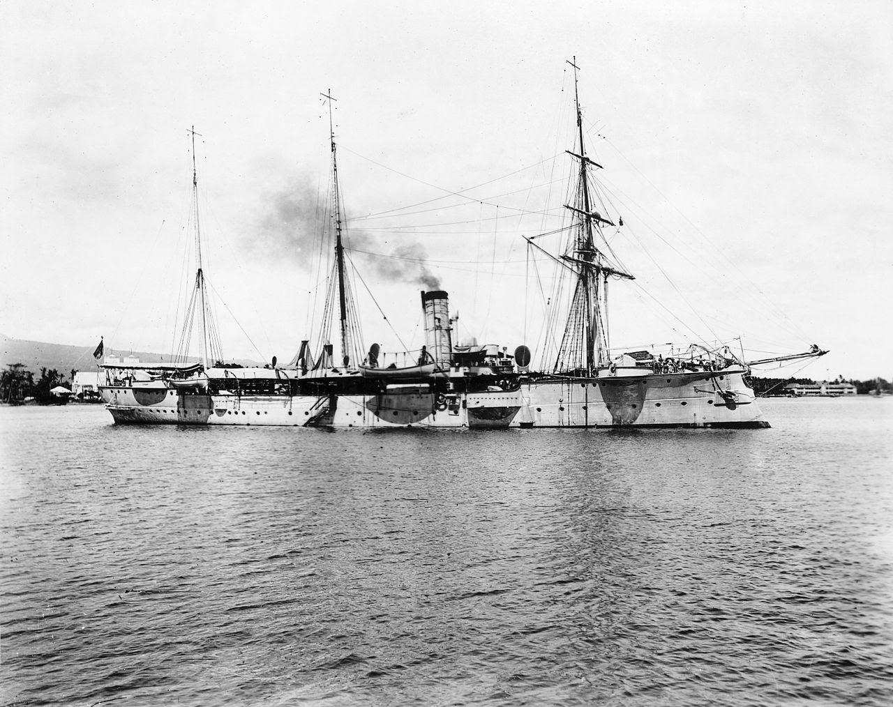 German warship 1900