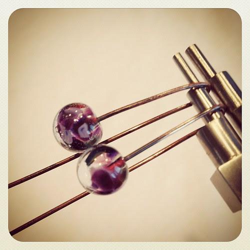 Glass headpin earring tutorial