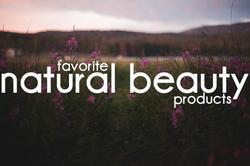 natural beauty products // the little red house