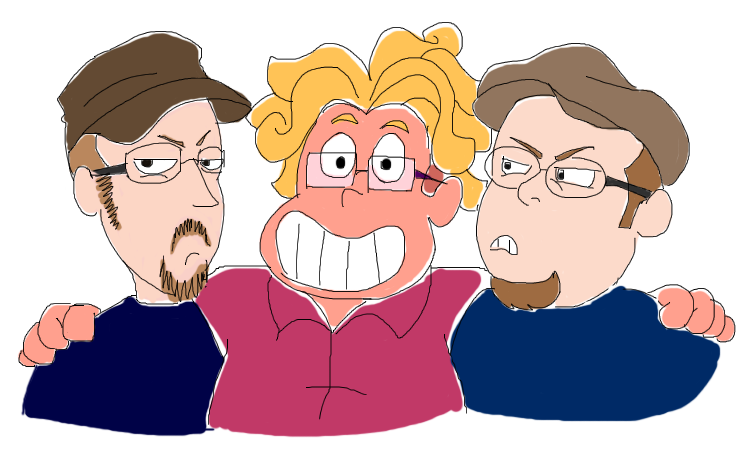 Doug Walker, Ronaldo Fryman and Rob Walker! they really don't like him, but i get the feeling Ronaldo would think they could all be bff. (so much in common, like internet blogs.. and glasses).