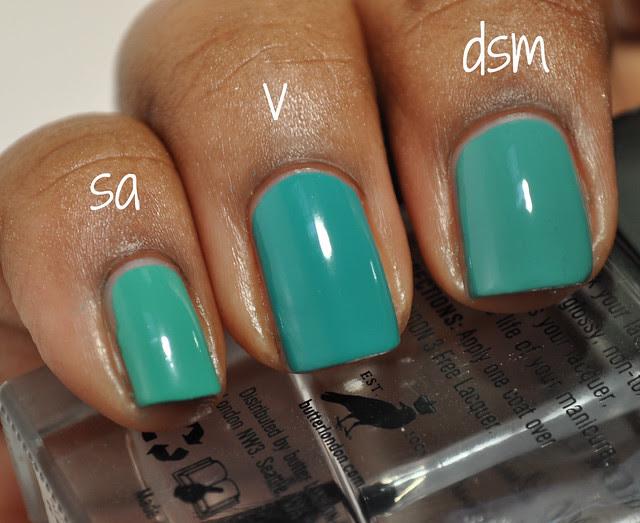 green nail polish creme comparison