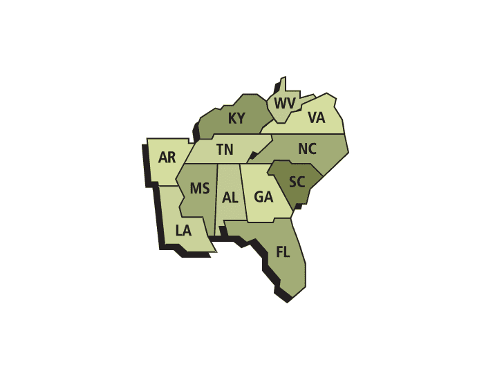 East Southern States And Capitals Purposegames