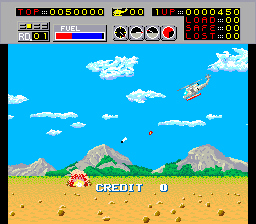 In the early stages, try to fly as low as possible - this way the fighters will not shoot you, and you are low enough to shoot the ground targets without being shot. Since this only works when you're in the air, and not when you're on the ground, it only works well on levels 1 and 3.