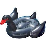 Swimline Giant Inflatable Ride-On 75-inch Black Swan Pool Float