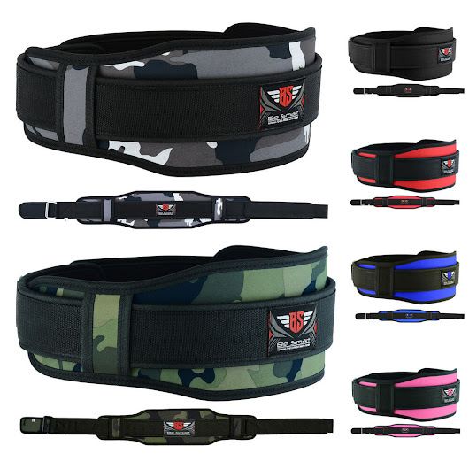 Details about Weight Lifting Belt Gym Training Back Support Neoprene Lumber Pain Fitness Camo