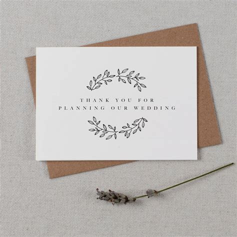 wedding planner thank you card by kismet weddings