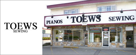 Toews Sewing is an online sewing equipment retailer in Abbotsford, BC