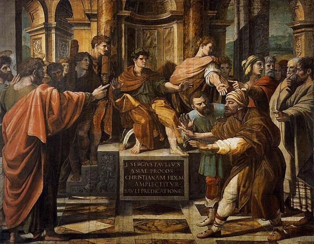 Ficheiro:V&A - Raphael, The Conversion of the Proconsul (1515).jpg