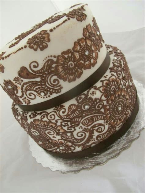 17 Best ideas about Mehndi Cake on Pinterest   Indian cake