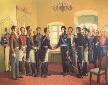 Encuentro entre Bolívar y San Martín