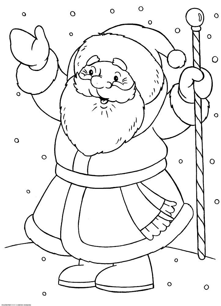 Dibujos Animados Para Colorear Santa Claus Para Niños Pequeños