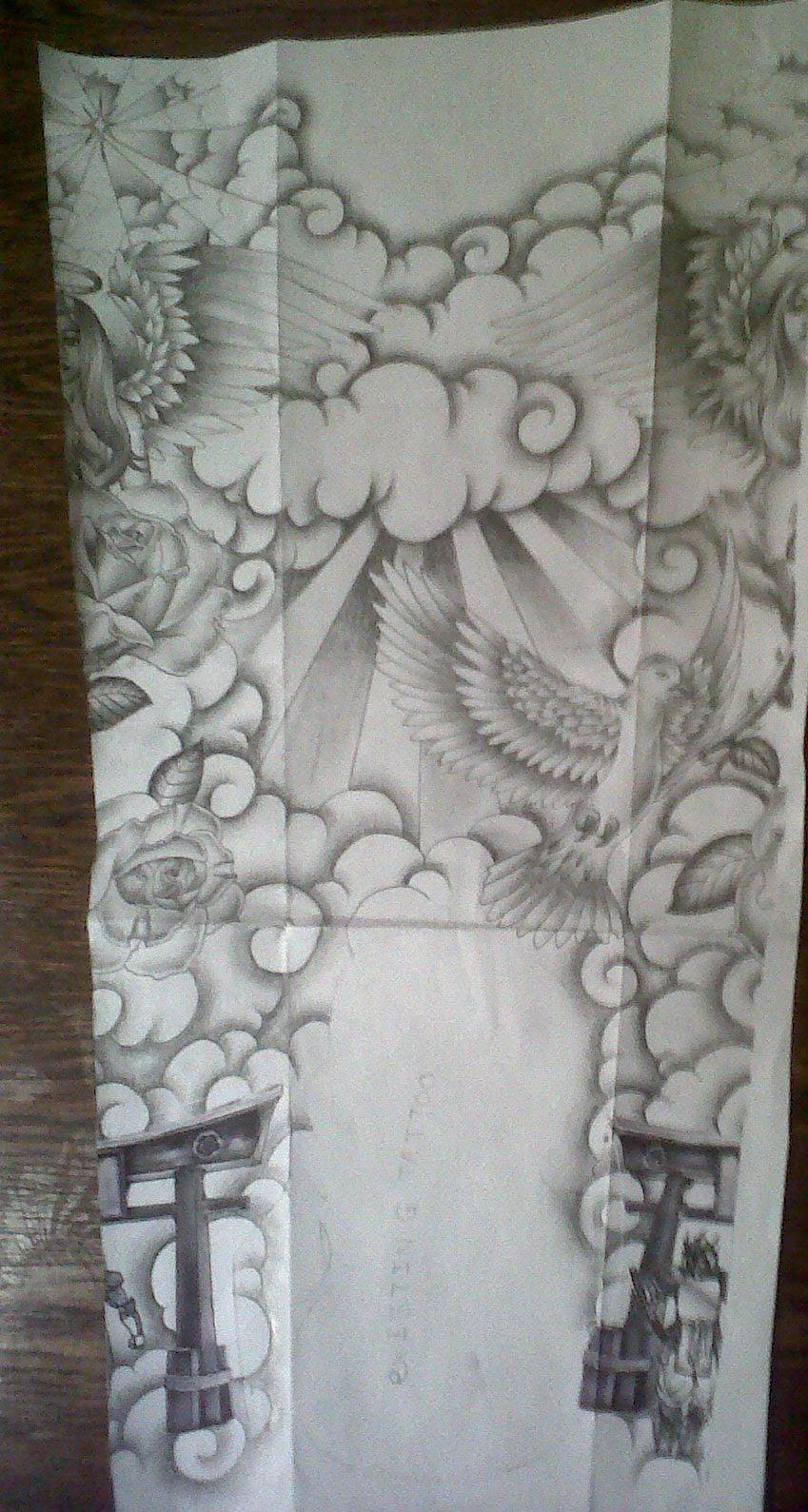 Pictures Of Religious Tattoo Sleeve Sketches Kidskunstinfo
