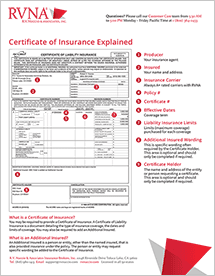 Request a Certificate of Liability Insurance ...