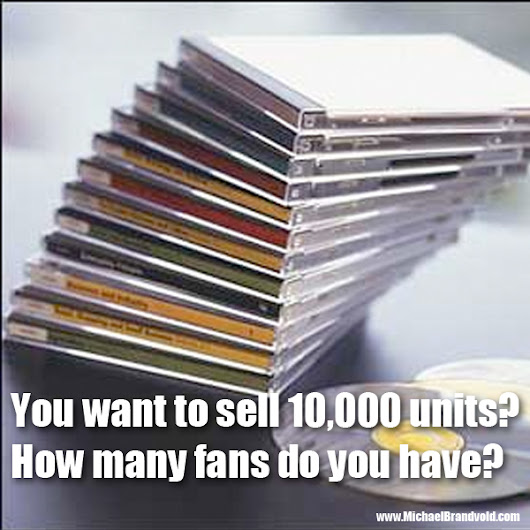 You want to sell 10,000 units? How many fans do you have?
