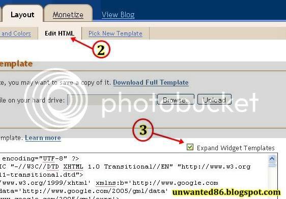 Letak Icon Pada URL Blog