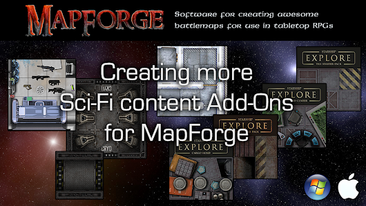 More Sci-Fi content Add-Ons for MapForge map-making software