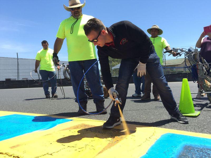 AJ Allmendinger Unveils Sonoma Raceway's New Scoring Pylon, Signature Food Items (#nascar)