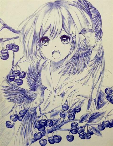 gorgeous anime girl portrait manga style learn