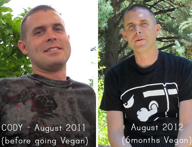 Cody BeforeAfter Vegan Photos