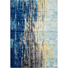 nuLOOM Bodrum Katharina Abstract Rug, Blue, 8X10 Ft