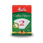 Melitta 622712 Cone Coffee Filter, White, #2, 100-pack