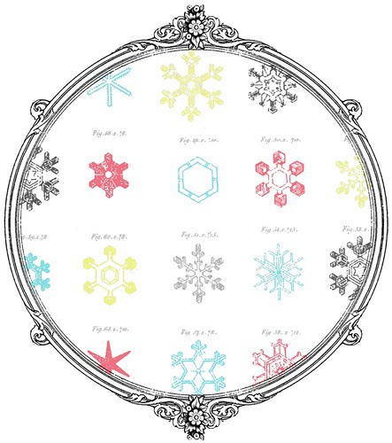 snowflake Snow Crystals - free printable paper SAMPLE