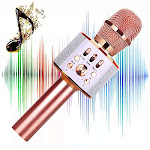 Microphone for Kids Children Karaoke Microphone Wireless Bluetooth Microphone 4-in-1 Toy Microphone Echo Mic Karaoke Machine Portable Microphones