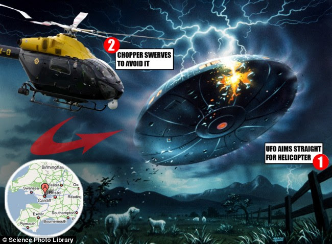 2008 police helicopter UFO encounter