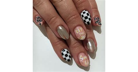 vans inspired nails fashion nail art ideas popsugar